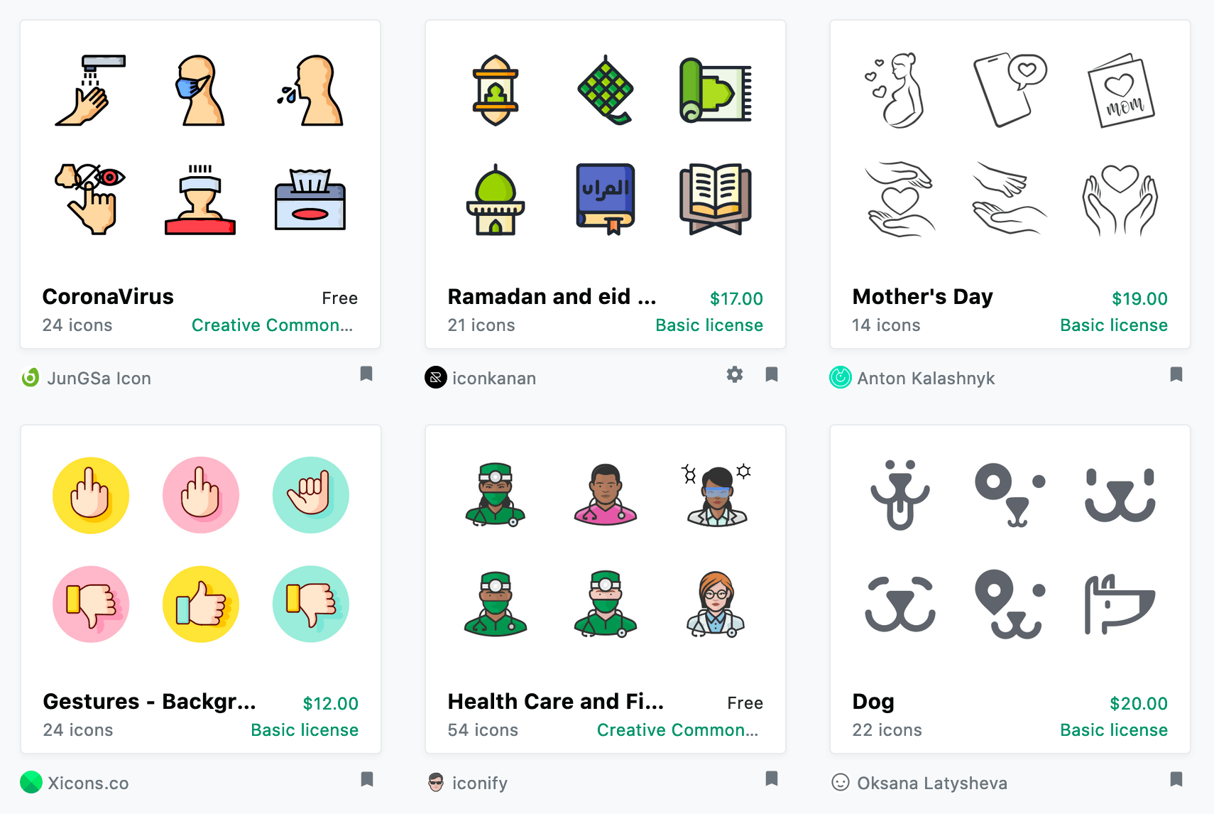 Iconfinder icon sets styles examples