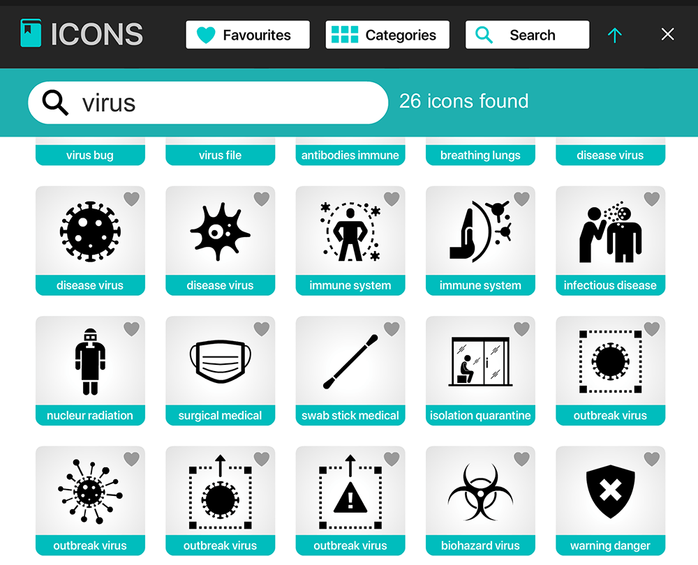 icongraph coronavirus and medical health icons search for infographics
