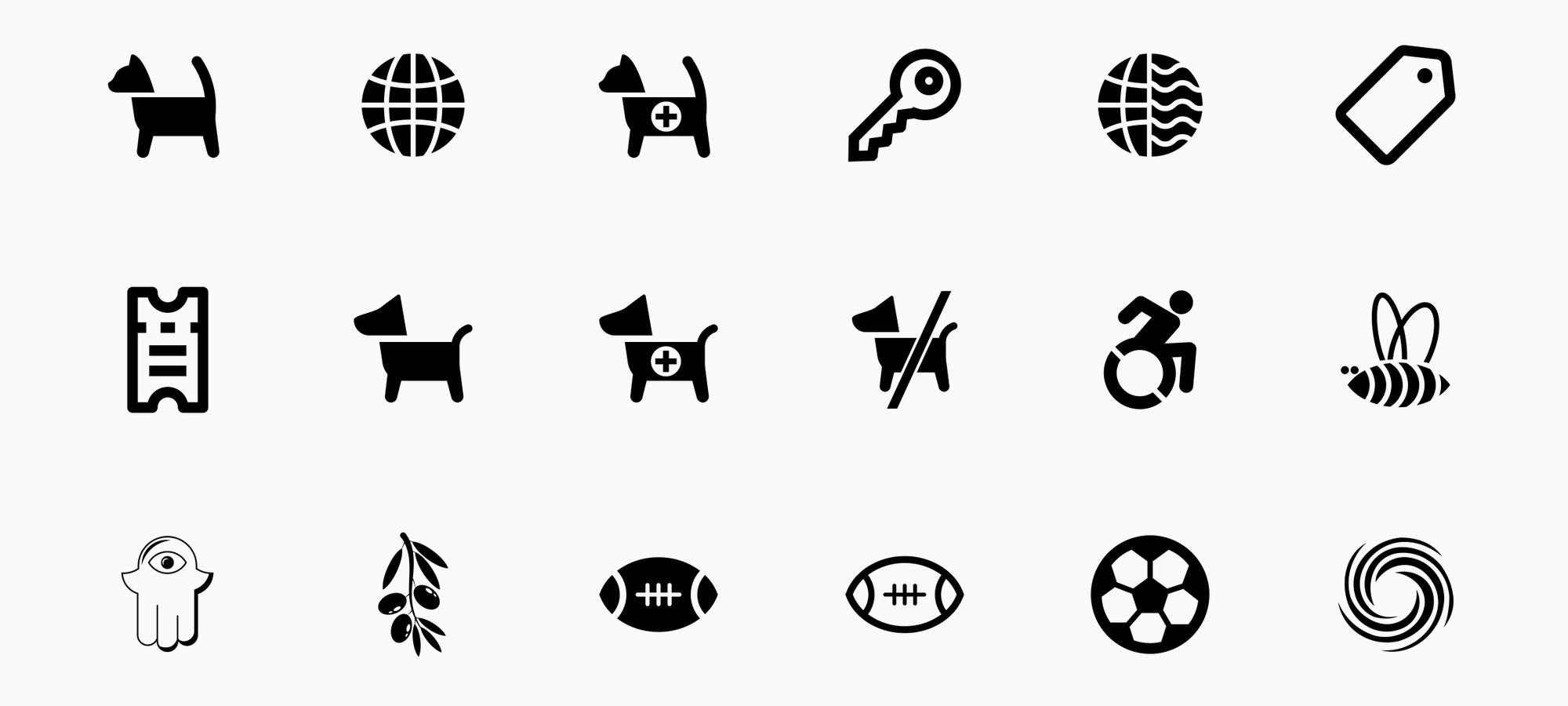 noun project glyph icons