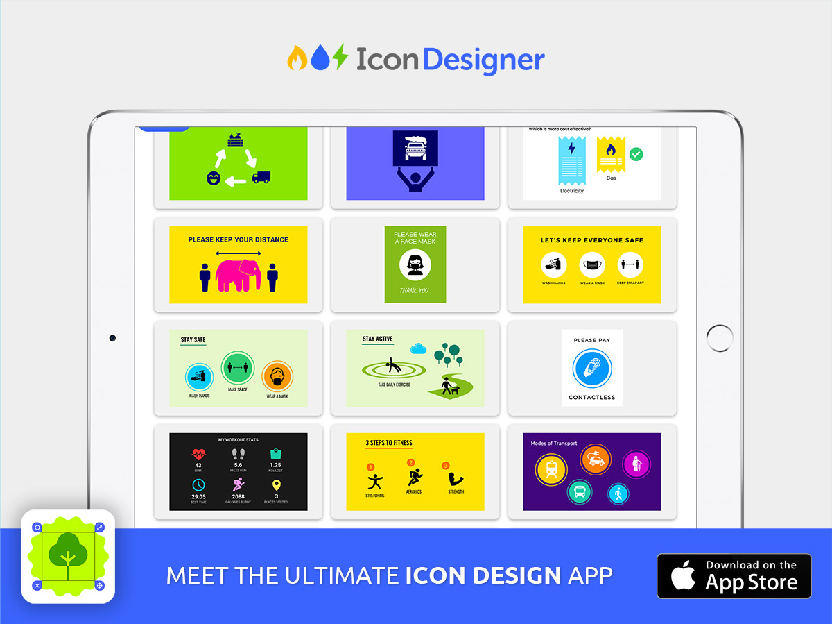presentation slide templates with icons