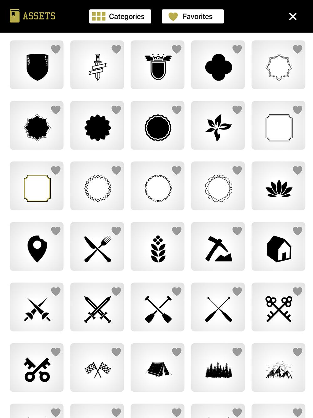 logo king vintage graphic symbols and crests